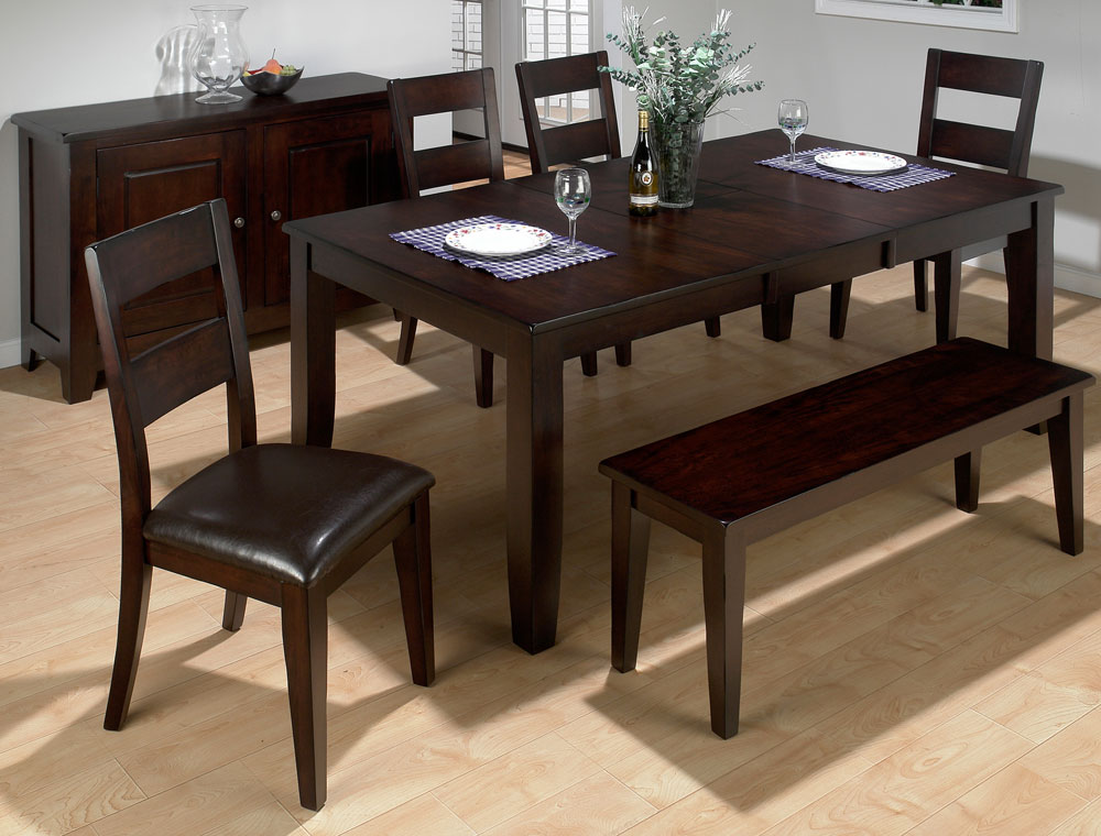rustic dining set with bench photo - 4