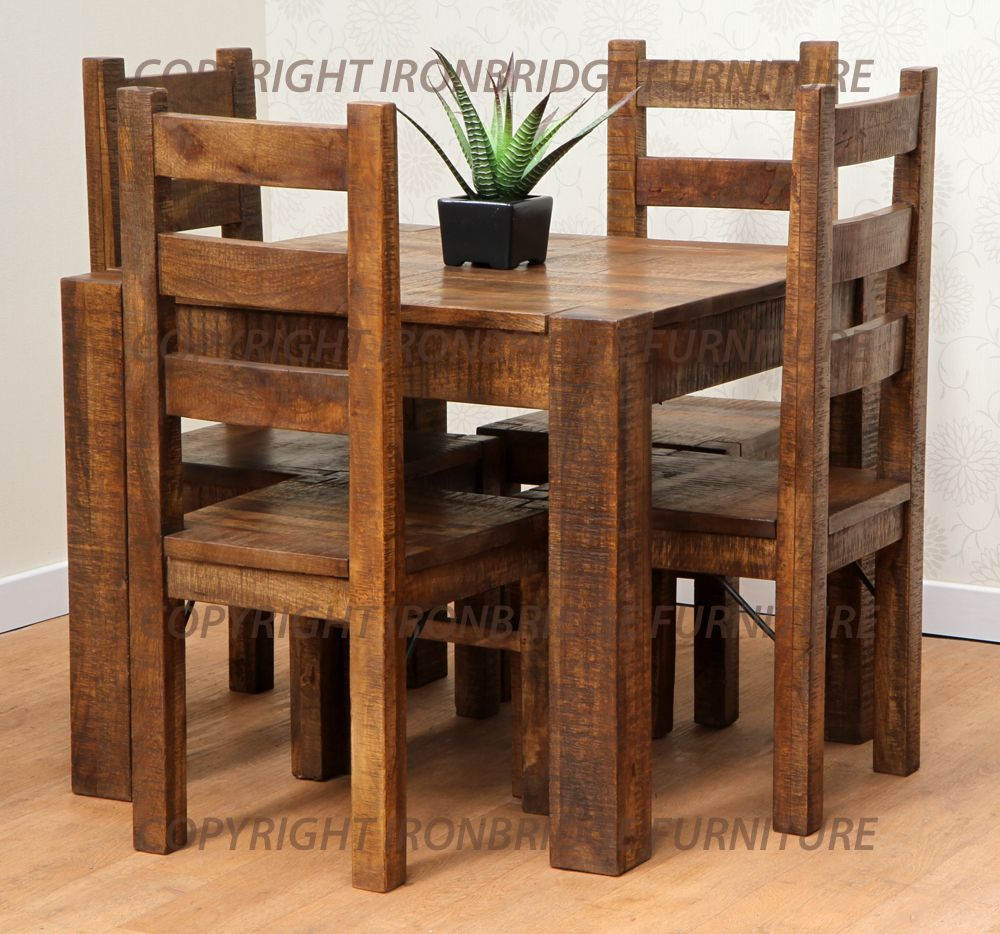 Antique rustic dining table - Rustic Dining Table And Chairs Photo 2