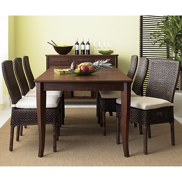 rustic dining table crate and barrel photo - 2