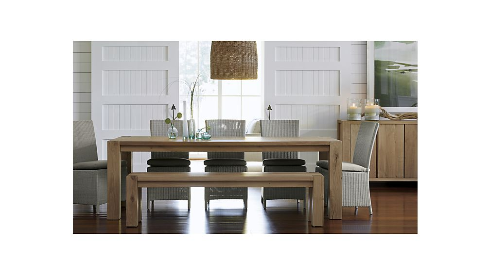rustic dining table crate and barrel photo - 5