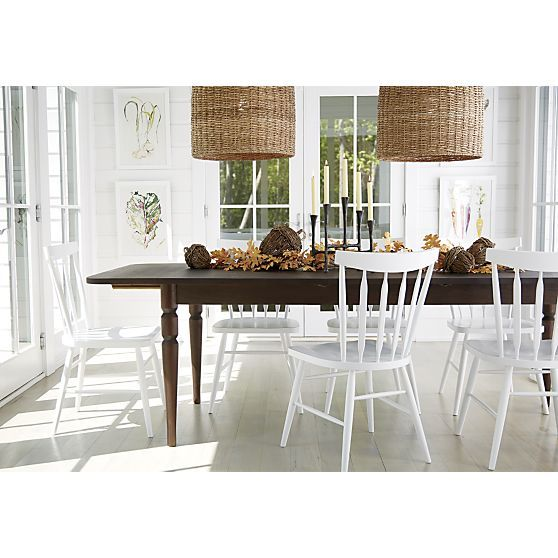 rustic dining table crate and barrel photo - 6