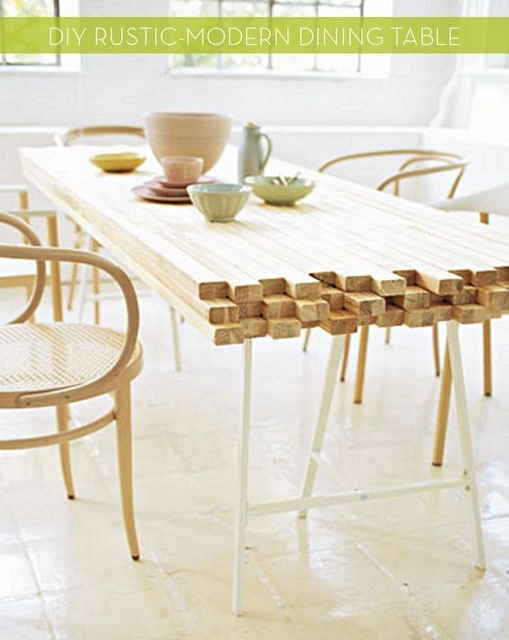 rustic dining table diy photo - 2