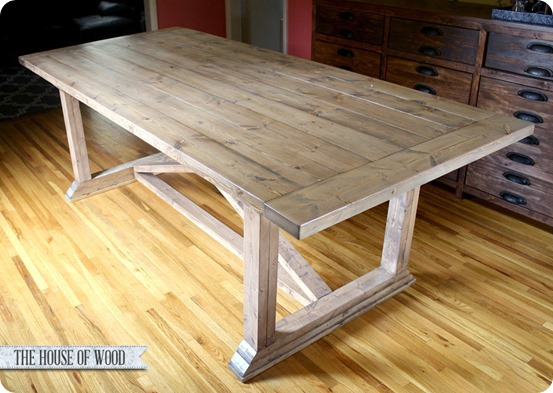 diy rustic dining room table - home design ideas