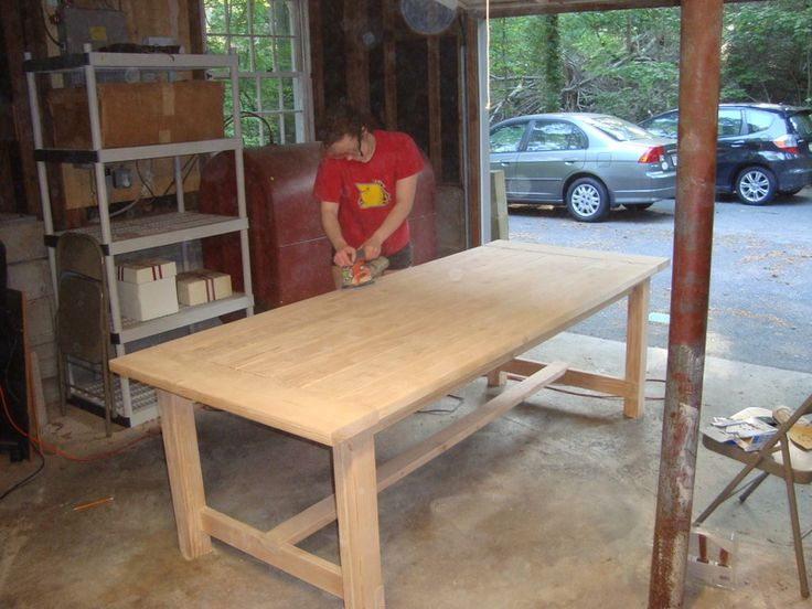 rustic dining table diy photo - 4