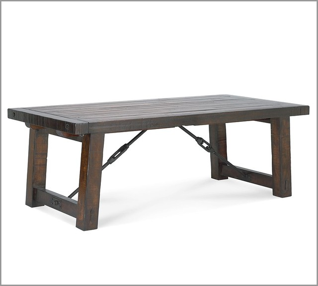 rustic dining table pottery barn photo - 2