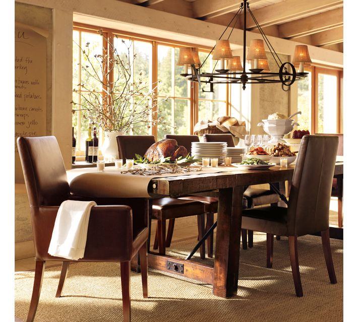 rustic dining table pottery barn photo - 4