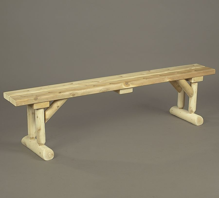 rustic dining table with bench photo - 3