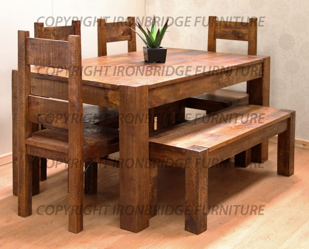 rustic dining table with bench interior exterior doors