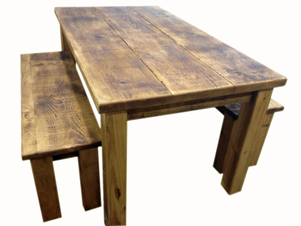 Rustic dining tables with benches roselawnlutheran for Dining table with bench
