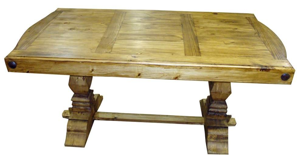 Great Rustic Pine Dining Table Bench Photo   5
