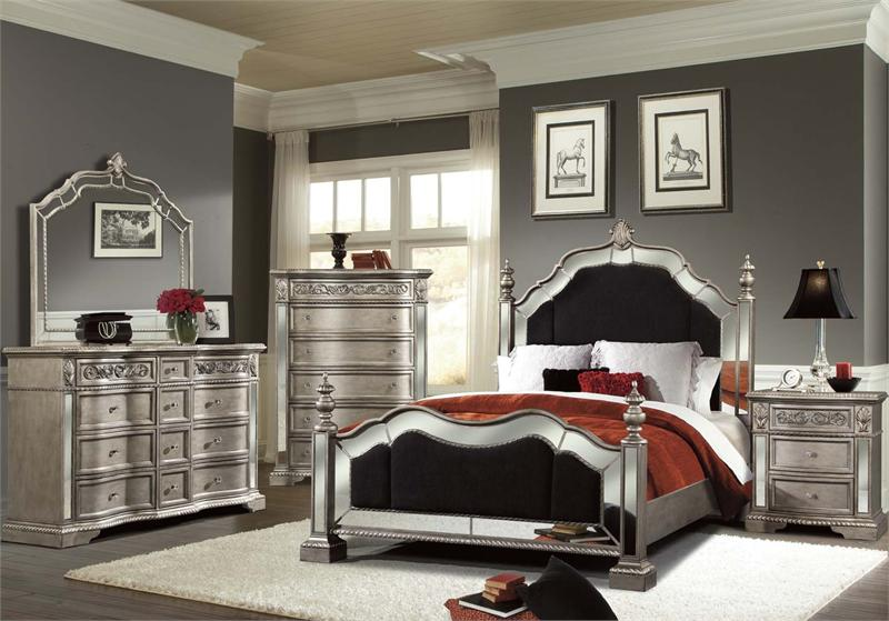 silver bedroom sets photo - 4