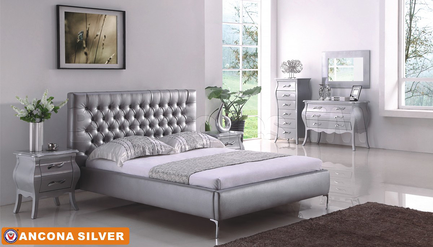 silver bedroom sets photo - 5