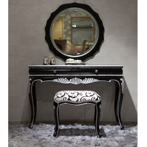 silver bedroom vanity sets photo - 3