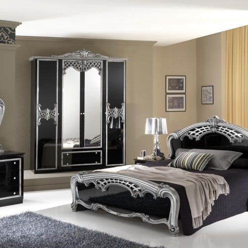 silver bedroom vanity sets photo - 4