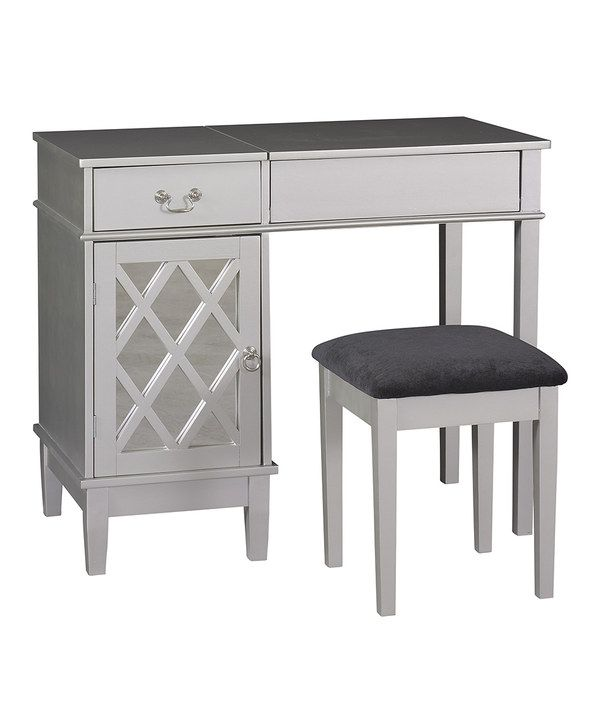 silver bedroom vanity sets photo - 6