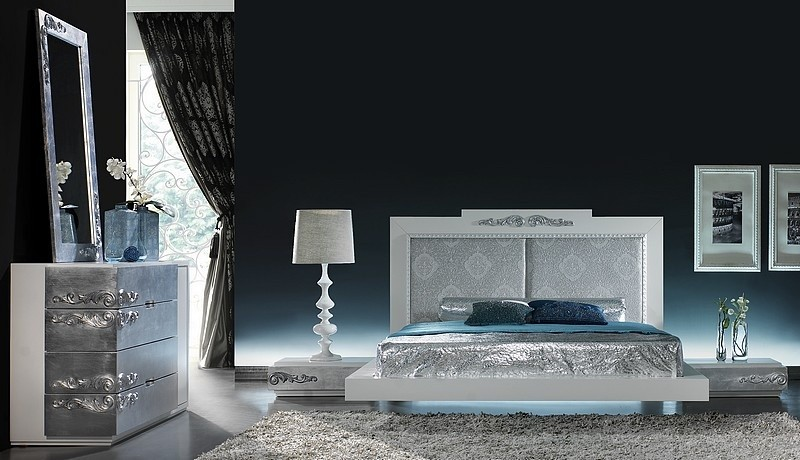 silver leaf bedroom sets photo - 1