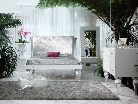 silver leaf bedroom sets photo - 3