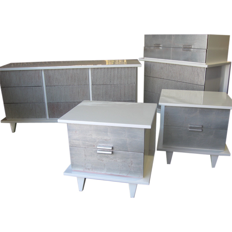 silver leaf bedroom sets photo - 5