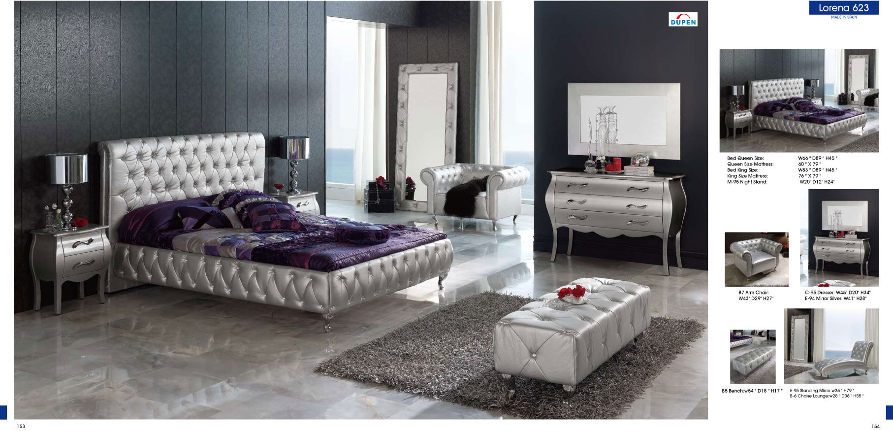 silver mirror bedroom set photo - 4