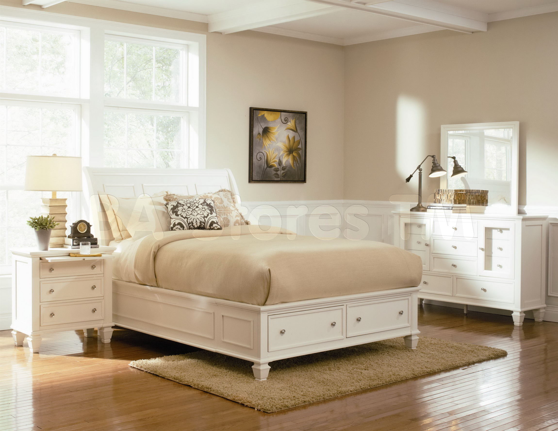 silver mirror bedroom set photo - 5
