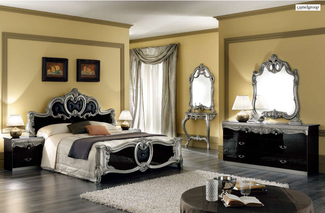 silver mirror bedroom set photo - 6