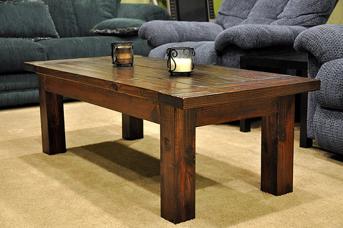 simple wood coffee table designs photo - 2