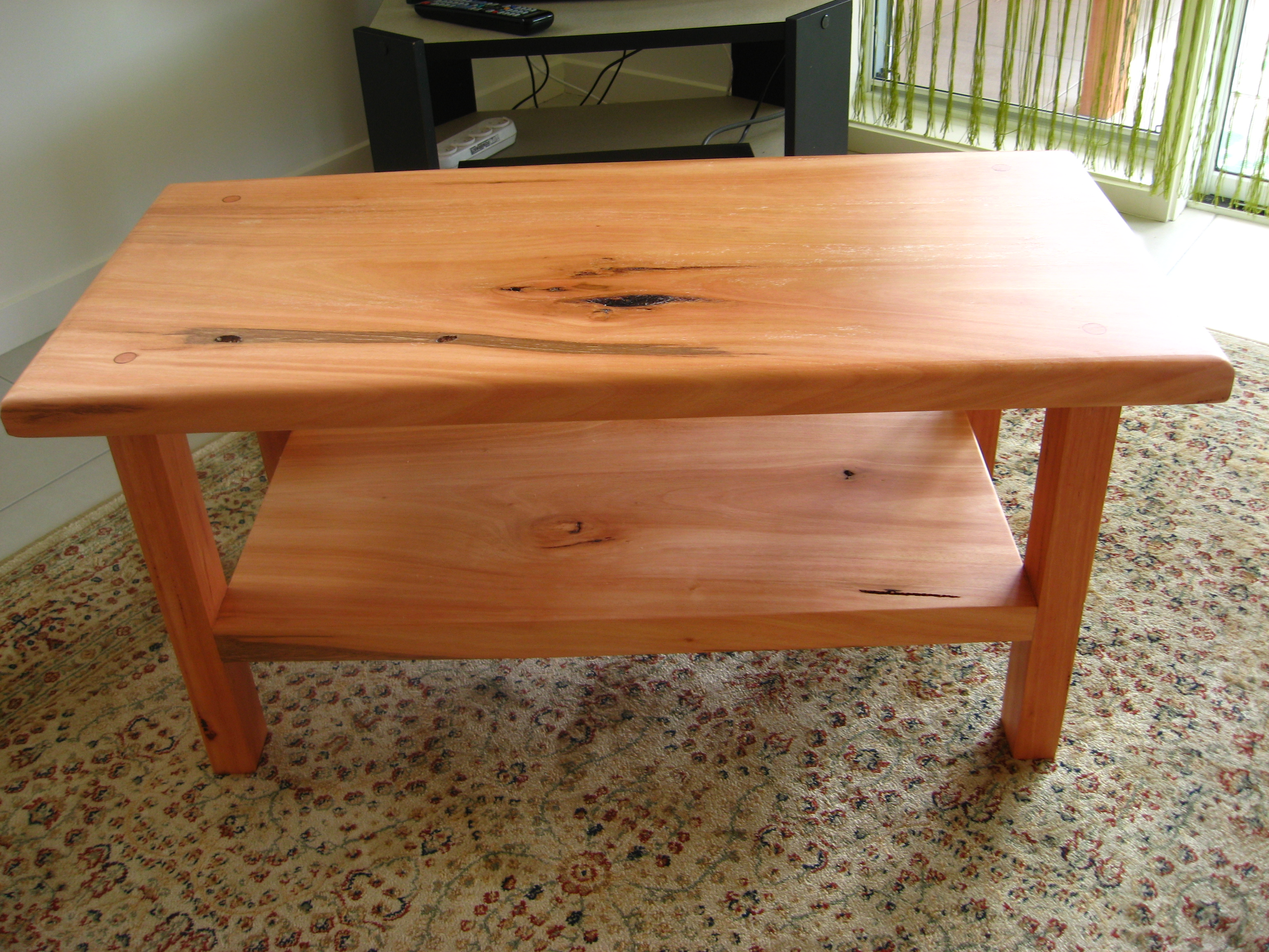 simple wood coffee table designs photo - 4