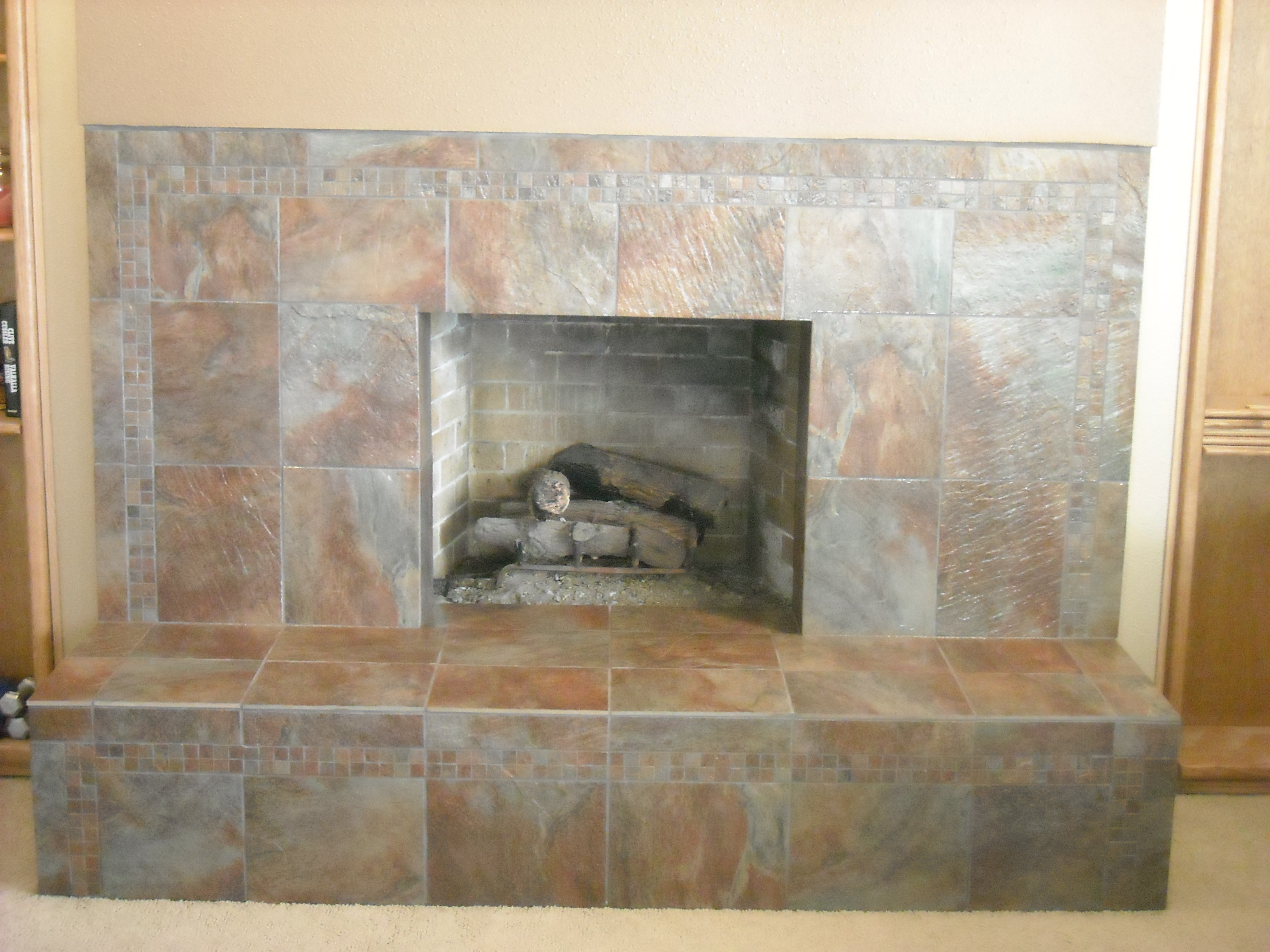 Tile A Fireplace Subway Tile Fireplace Surround Flourish Design Style