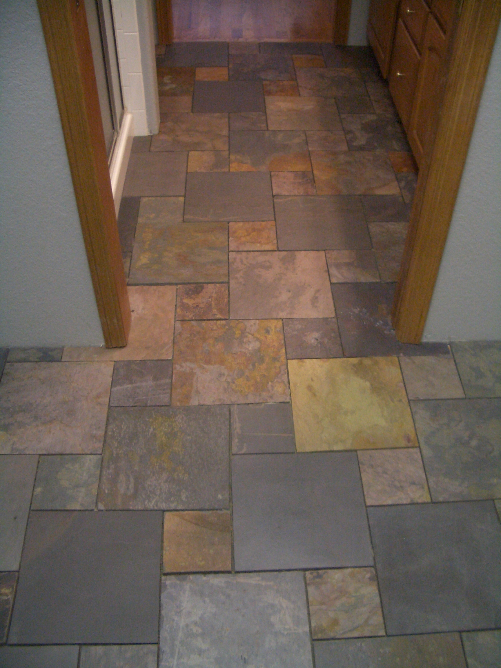 slate tiles for bathroom floor photo - 1