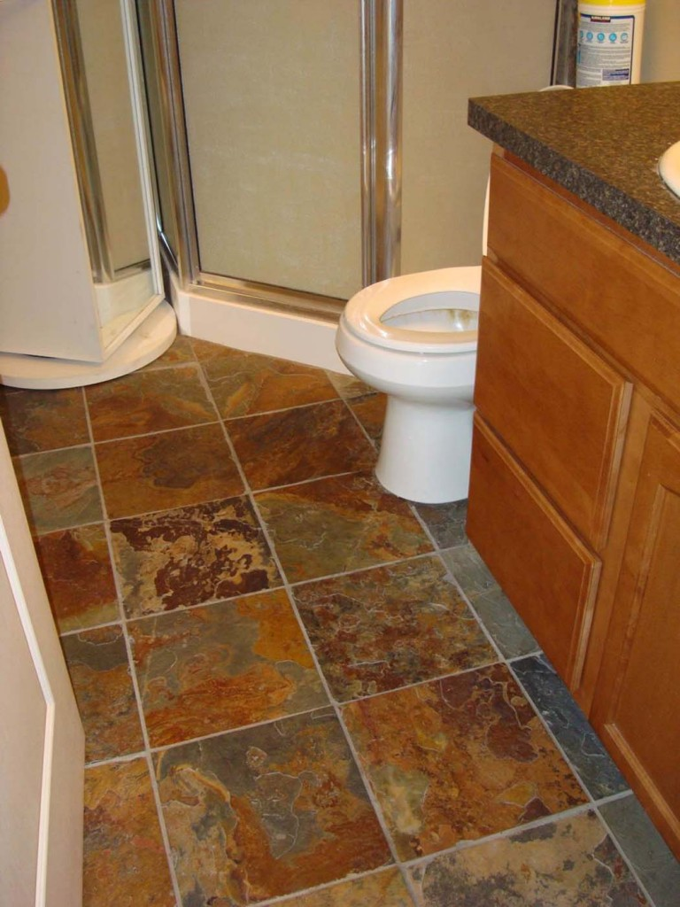 slate tiles for bathroom floor photo - 2
