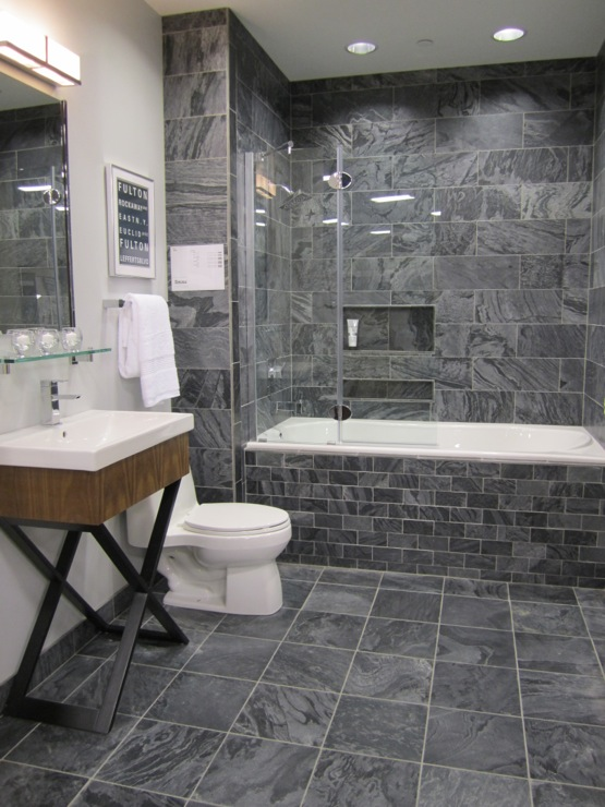 slate tiles for bathroom floor photo - 3
