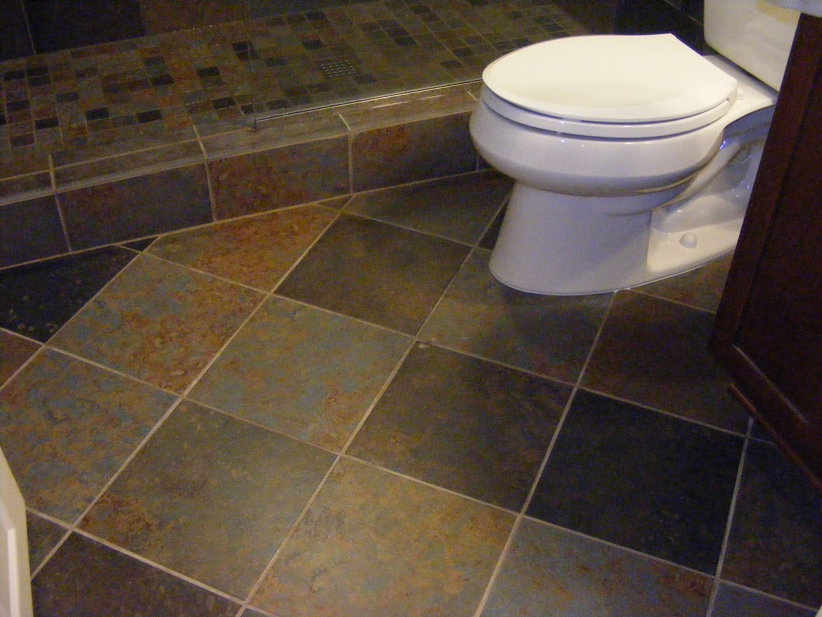 slate tiles for bathroom floor photo - 6