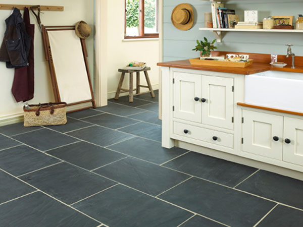 Black tiles for kitchen floor choice image home flooring design slate tiles  for kitchen floor interior