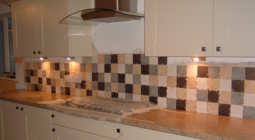 slate tiles for kitchen wall photo - 3