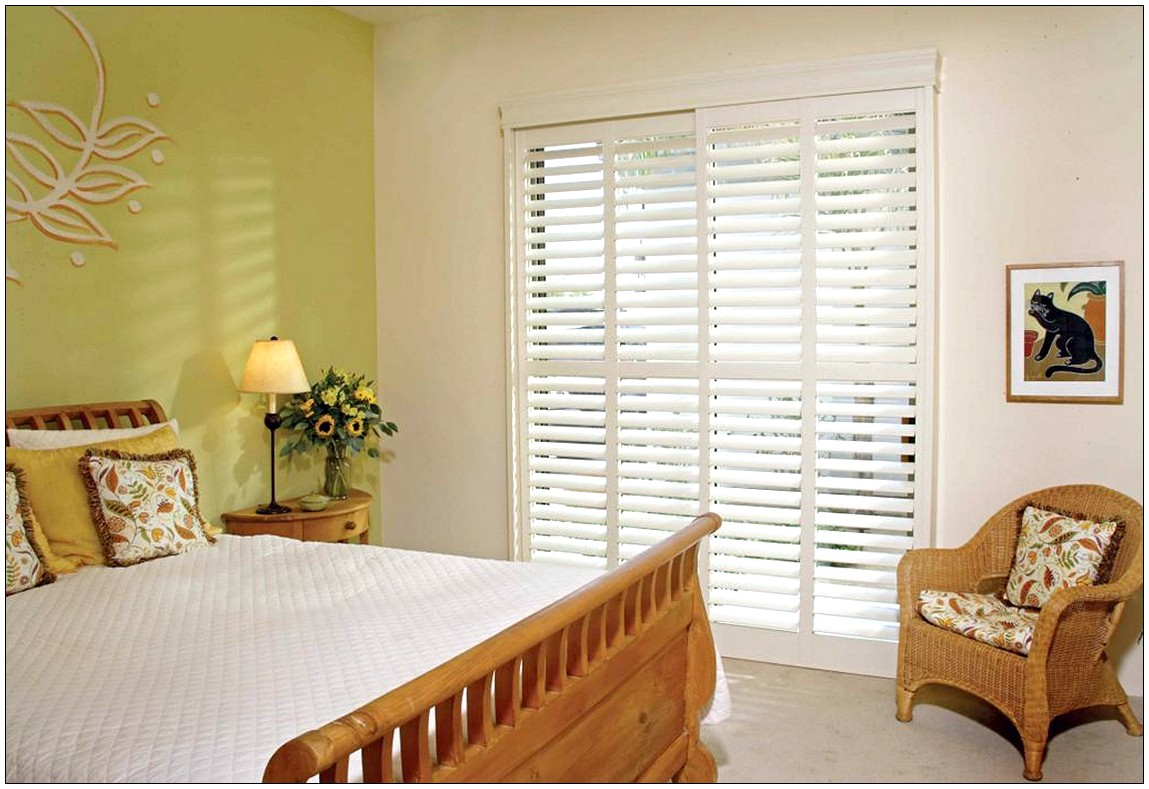 sliding glass door blinds ideas photo - 2