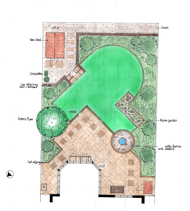 Garden design plans garden design garden design with for Backyard design plans