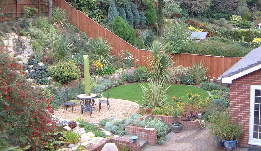 sloping garden ideas photos photo - 1