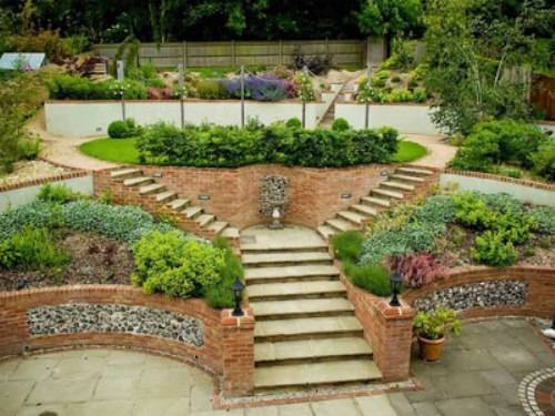 sloping garden ideas photos photo - 2