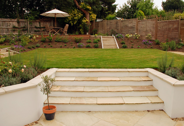 sloping garden ideas photos photo - 3