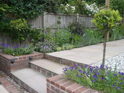 sloping garden ideas photos photo - 5