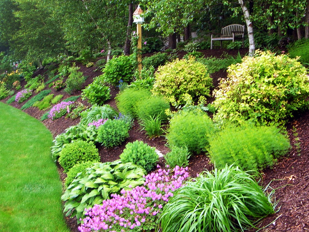 sloping garden ideas photos photo - 6