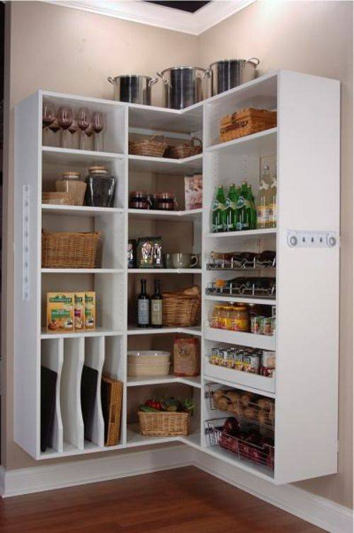 small kitchen open pantry photo - 1