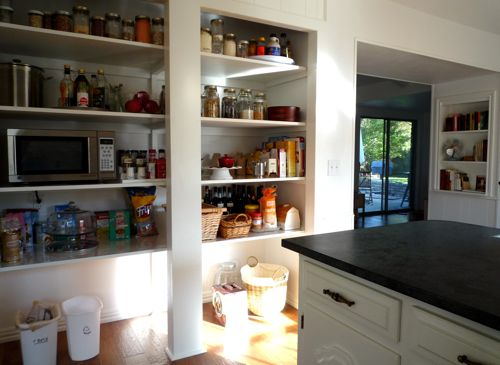 small kitchen open pantry photo - 2