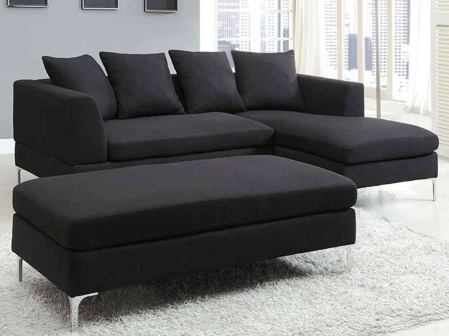 small sectional sofa black photo - 2