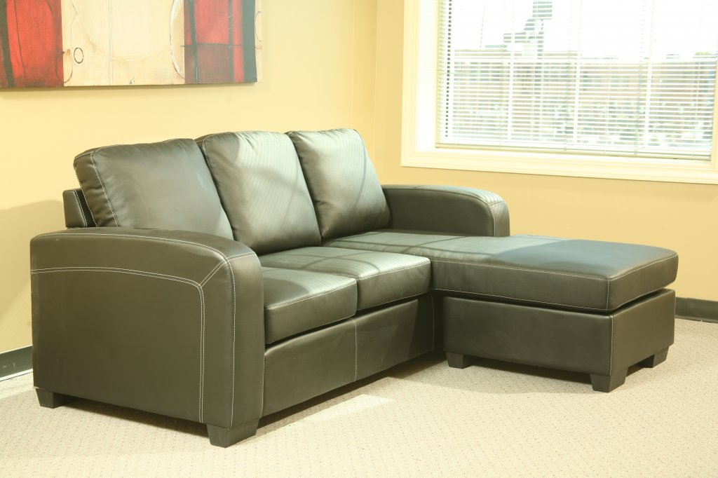 small sectional sofa black photo - 3