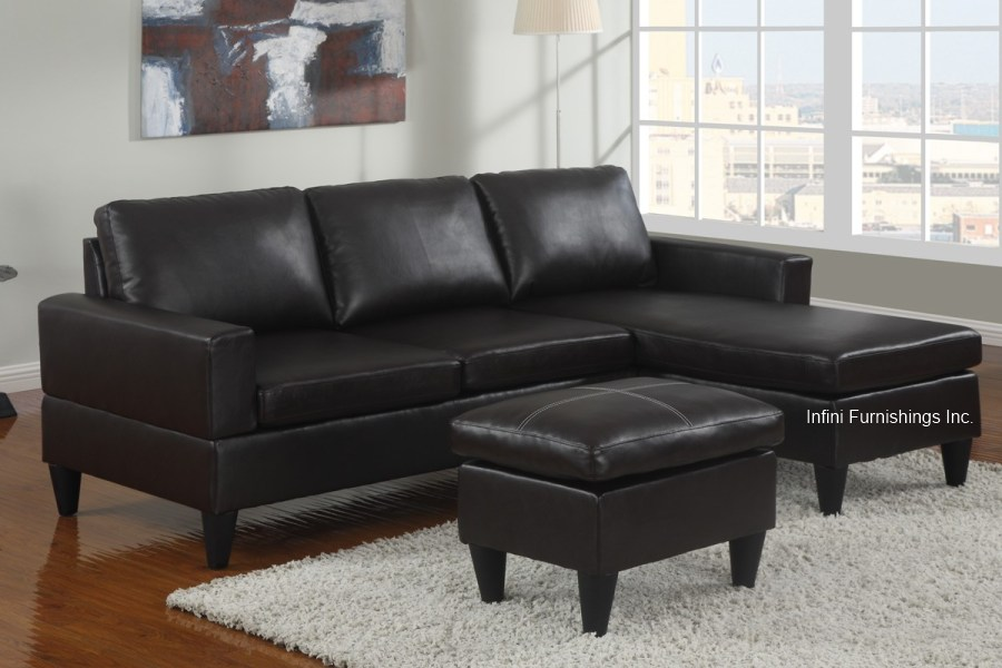small sectional sofa black photo - 4