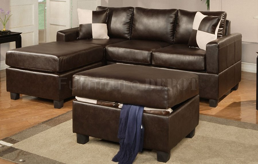 small sectional sofa leather photo - 2