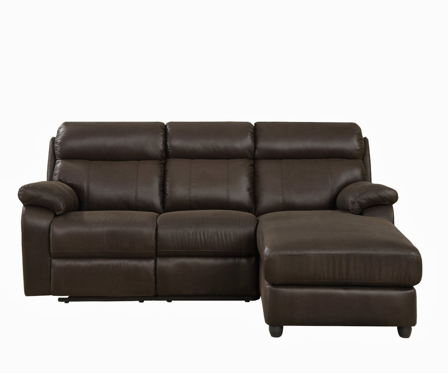 small sectional sofa leather photo - 4