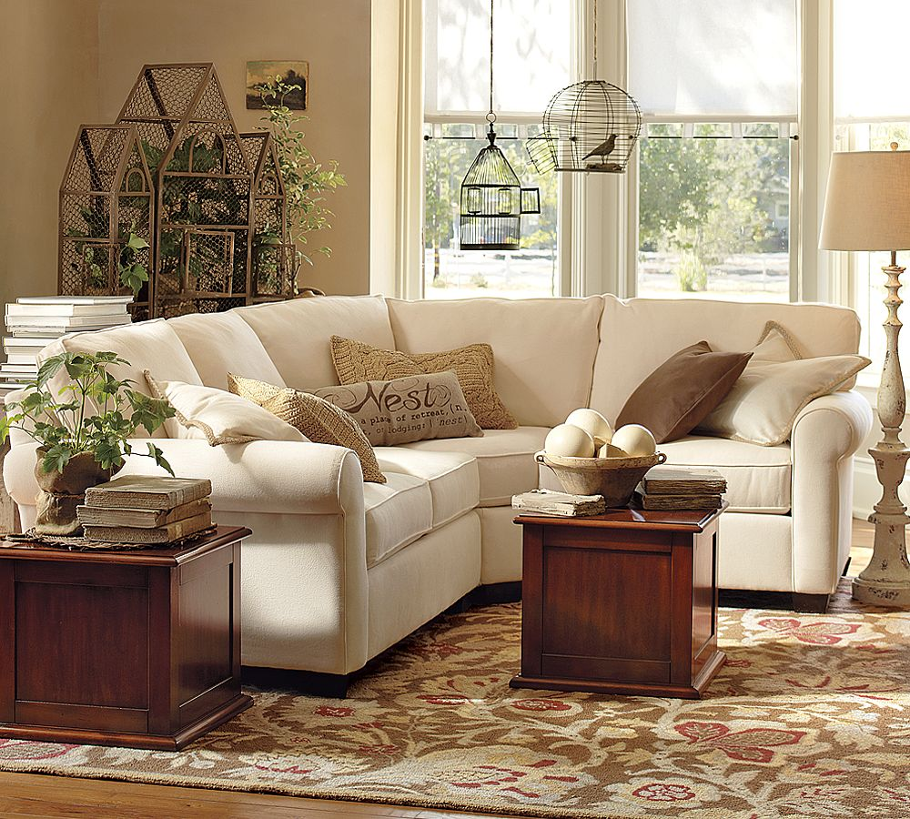 small sectional sofa pottery barn photo - 1