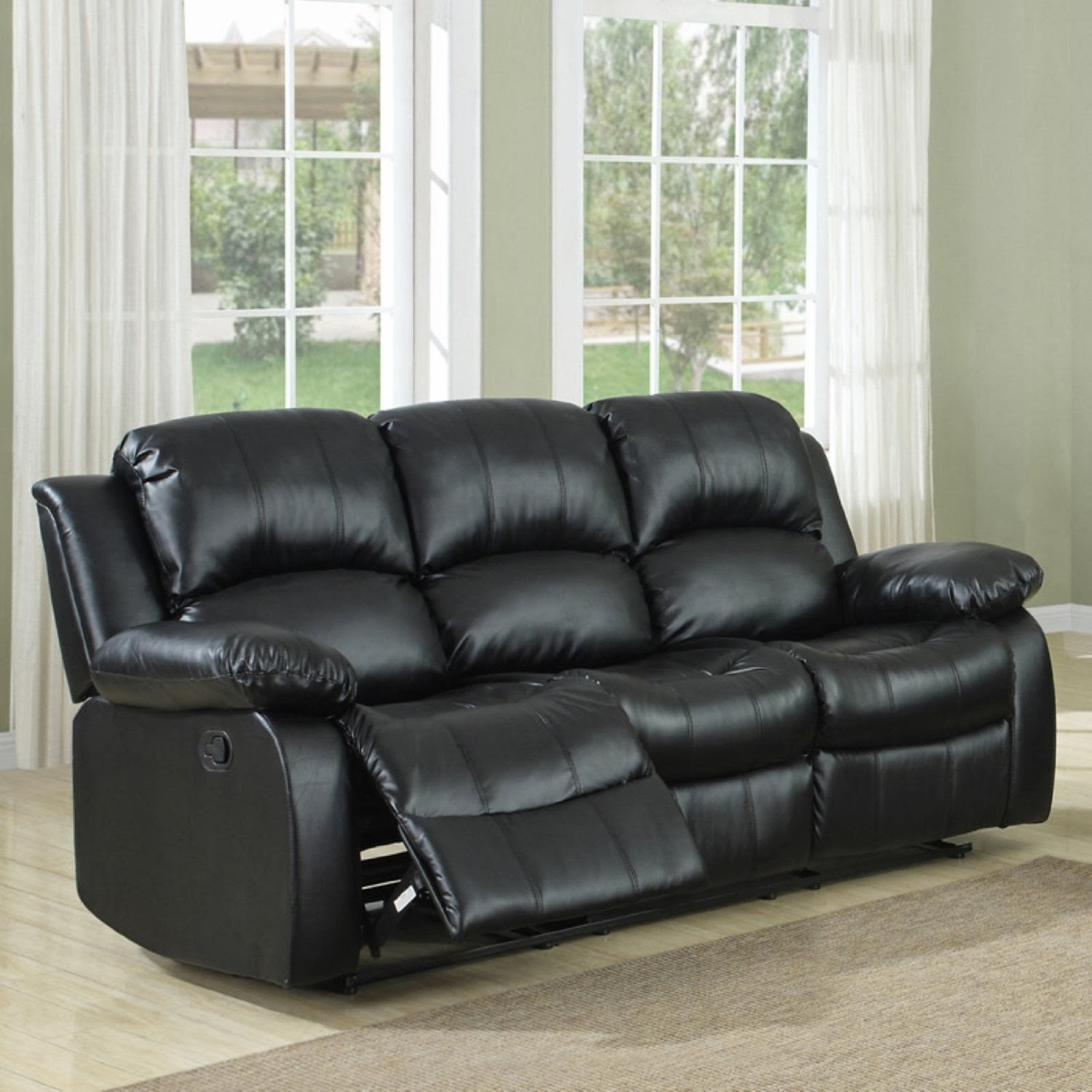 small sectional sofa with recliner photo - 2